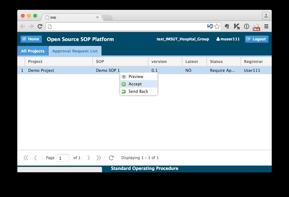 OpenSOP Standard Operating Procedure